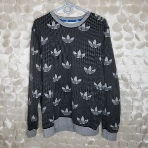 Adidas polkadot logo all over print sweatshirt L